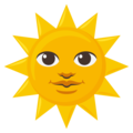 Sun With Face on EmojiOne 3.1
