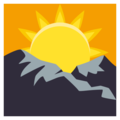 Sunrise Over Mountains on EmojiOne 3.1