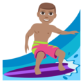 Person Surfing: Medium Skin Tone on EmojiOne 3.1
