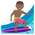 Person Surfing: Medium-Dark Skin Tone on EmojiOne 3.1