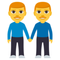 Two Men Holding Hands on EmojiOne 3.1