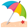 Umbrella on Ground on EmojiOne 3.1