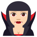Vampire: Light Skin Tone on EmojiOne 3.1