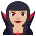 Vampire: Medium-Light Skin Tone on EmojiOne 3.1