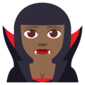 Vampire: Medium-Dark Skin Tone on EmojiOne 3.1