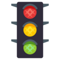 Vertical Traffic Light on EmojiOne 3.1