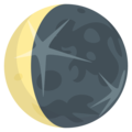 Waning Crescent Moon on EmojiOne 3.1