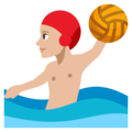Person Playing Water Polo: Medium-Light Skin Tone on EmojiOne 3.1