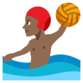 Person Playing Water Polo: Medium-Dark Skin Tone on EmojiOne 3.1