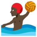 Person Playing Water Polo: Dark Skin Tone on EmojiOne 3.1