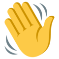 Waving Hand on EmojiOne 3.1