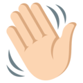 Waving Hand: Light Skin Tone on EmojiOne 3.1