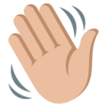Waving Hand: Medium-Light Skin Tone on EmojiOne 3.1