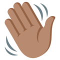 Waving Hand: Medium Skin Tone on EmojiOne 3.1