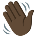 Waving Hand: Dark Skin Tone on EmojiOne 3.1