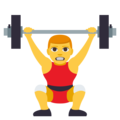 Person Lifting Weights on EmojiOne 3.1