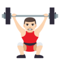 Person Lifting Weights: Light Skin Tone on EmojiOne 3.1