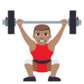 Person Lifting Weights: Medium Skin Tone on EmojiOne 3.1