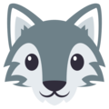Wolf Face on EmojiOne 3.1