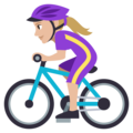 Woman Biking: Medium-Light Skin Tone on EmojiOne 3.1