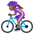 Woman Biking: Medium-Dark Skin Tone on EmojiOne 3.1