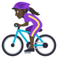 Woman Biking: Dark Skin Tone on EmojiOne 3.1