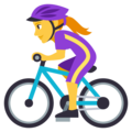 Woman Biking on EmojiOne 3.1