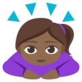 Woman Bowing: Medium-Dark Skin Tone on EmojiOne 3.1