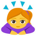Woman Bowing on EmojiOne 3.1