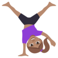 Woman Cartwheeling: Medium Skin Tone on EmojiOne 3.1