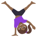 Woman Cartwheeling: Medium-Dark Skin Tone on EmojiOne 3.1