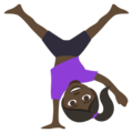 Woman Cartwheeling: Dark Skin Tone on EmojiOne 3.1