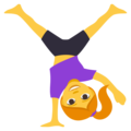 Woman Cartwheeling on EmojiOne 3.1