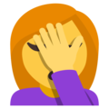 Woman Facepalming on EmojiOne 3.1
