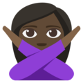 Woman Gesturing No: Dark Skin Tone on EmojiOne 3.1