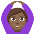 Woman Gesturing OK: Medium-Dark Skin Tone on EmojiOne 3.1
