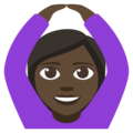 Woman Gesturing OK: Dark Skin Tone on EmojiOne 3.1
