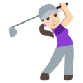 Woman Golfing: Light Skin Tone on EmojiOne 3.1