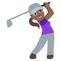 Woman Golfing: Medium-Dark Skin Tone on EmojiOne 3.1