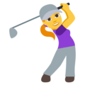 Woman Golfing on EmojiOne 3.1