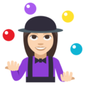 Woman Juggling: Light Skin Tone on EmojiOne 3.1