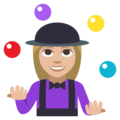 Woman Juggling: Medium-Light Skin Tone on EmojiOne 3.1