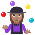 Woman Juggling: Medium Skin Tone on EmojiOne 3.1