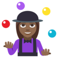 Woman Juggling: Medium-Dark Skin Tone on EmojiOne 3.1