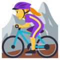 Woman Mountain Biking on EmojiOne 3.1