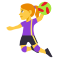 Woman Playing Handball on EmojiOne 3.1