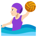 Woman Playing Water Polo: Light Skin Tone on EmojiOne 3.1