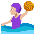 Woman Playing Water Polo: Medium-Light Skin Tone on EmojiOne 3.1