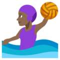 Woman Playing Water Polo: Medium-Dark Skin Tone on EmojiOne 3.1