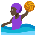 Woman Playing Water Polo: Dark Skin Tone on EmojiOne 3.1